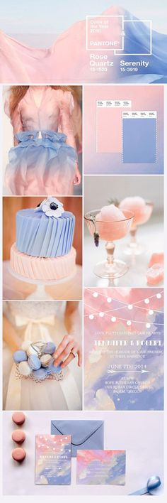 rose quartz and serenity wedding color trends for 2016
