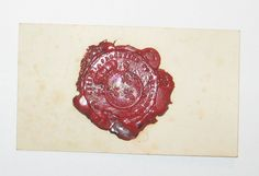 Calling card with beautiful red wax seal with the Coat of Arms of the Bourbons (French Royal Family). Calling Cards, Wax Seals, Coat Of Arms, Ipad Mini, Leather Case, Royalty, French, Red, Ebay