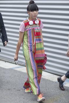 Susie Bubble goes rainbow bright. #PFW