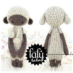 *Dies ist eine HÄKELANLEITUNG im PDF-Format. NICHT die auf den Fotos abgebildete fertige Puppe!*   Das ist LUPO das Schaf!  Man sieht es ihm nicht an aber Lupo ist eigentlich ein Wolf! OK - ein...