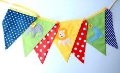 Circus bunting nursery decor baby bunting by BillieBellaBunting