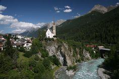 "The start of the River Inn, in the Engadin region of the Swiss Alps, West of St. Moritz.  Engadin ""garden of the inn"""
