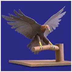 Free 3D Paper Crafts: Japanese Golden Eagle Paper Crafts