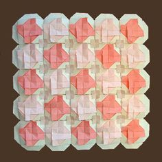 Here are a couple more creations which continue the quilt theme as well as the practice of dedication. These two quilts are dedicated to Ke. Origami Quilt, Origami And Kirigami, Paper Art, Paper Crafts, Color Trends, Arts And Crafts, Quilts, Creative, Couple