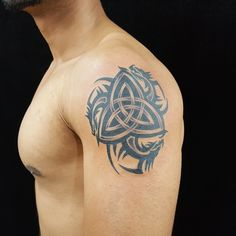 Tribal Arm Tattoos For Men, Celtic Tattoos For Men, Tribal Dragon Tattoos, Irish Tattoos, Dragon Tattoo Designs, Tribal Tattoo Designs, Arm Tattoos For Guys, Trendy Tattoos, Cool Tattoos