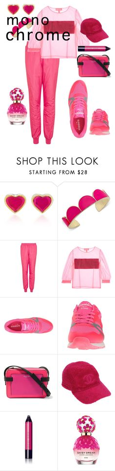 """""""Bright Pink Monochrome"""" by josie-land ❤ liked on Polyvore featuring Kate Spade, Topshop, Paskal, Diadora, Michael Kors, Chanel, Bobbi Brown Cosmetics and Marc Jacobs"""
