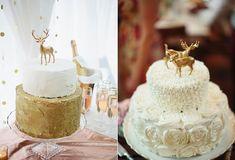 deer wedding cakes via Christmas Deserts, Christmas Cake Decorations, Christmas Cakes, Geek Magazine, Magazine Online, Deer Wedding, Wedding Ideas, Reindeer Cakes, Winter Wedding Receptions