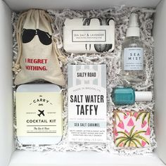 """529 Likes, 48 Comments - Teak & Twine (@teakandtwine) on Instagram: """"Welcome gifts for the most fun bachelorette party ever! MIAMI!! With @wandpdesign @saltyroad…"""""""