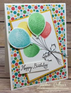 Klompen Stampers (Stampin' Up! Demonstrator Jackie Bolhuis): Punching Balloons Made Easy