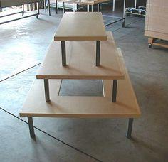 display ideas tiered retail display table create using ikea lack tables