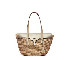 2ab6602edf2b MICHAEL Michael Kors Womens Naomi Straw Metallic Tote Handbag Gold Large --  See this great