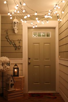 front door lights :)
