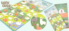 """Kawaii Alpaca & Sheep Sponge Stickers//I'd stick things in everything and say """"alpaca my bags"""""""