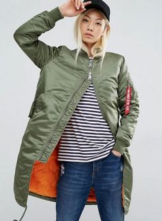 Women's Fashion Zip Front Bomber Jacket