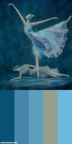 Painting+Of+Ballet+Dancers+Color+Scheme