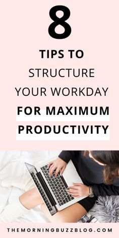 Aug 2019 - Tired of procrastination and mental fatigue holding you back? Check out these 8 tips to structure your workday so you can stay productive and focused no matter what. Work Productivity, Productivity Quotes, Productive Things To Do, How To Stop Procrastinating, Work From Home Tips, Time Management Tips, Career Advice, Career Goals, Motivation