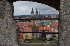 Blick von der Burg in Cheb in Tschechien