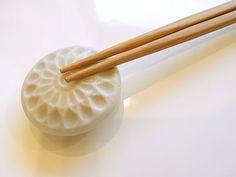 Geometric hashioki with the feel of a seashell.