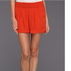 BCBG Shorts True orange color like in the first photo. Too small. Brand new. Fit a 10-12 comfortably. BCBGMaxAzria Shorts