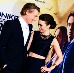 Jamie and Lily at the Berlin premiere of The Mortal Instruments