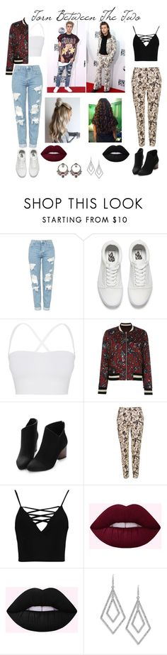 """""""Torn Between The Two"""" by jhermani2002 ❤ liked on Polyvore featuring Topshop, Vans, Theory, Étoile Isabel Marant, Boohoo, ABS by Allen Schwartz and Alexander McQueen"""