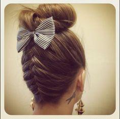 Bun hair.