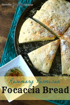 Rosemary Parmesan Focaccia Bread- amazing for dips and sandwiches!  from favfamilyrecipes.com  #bread #recipes #focaccia