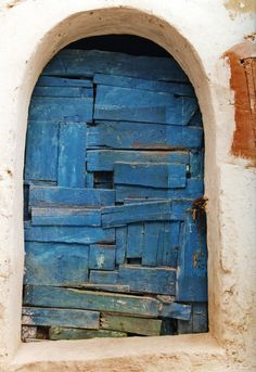 Sidi Bou Said, Tunisia Metaphor for Life. One scrap at a time life is patched together.