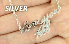 "Handwriting Jewelry – Tagged ""silver handwriting"" – Fine Jewelry by Anastasia Savenko Jewelry Tags, Fine Jewelry, Sterling Sliver, Handwriting, Solid Gold, Anastasia, Birthstones, Silver, Calligraphy"