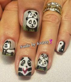 #nails #nailart #nailaddict #panda