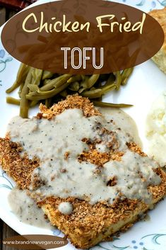 Having lived in Texas, I got to know Chicken Fried Steak intimately.... specifically from a fast-food joint called Grandys. So in an effort to recreate that Texan comfort food I loved, I made this Chicken Fried Tofu. And oh man y'all - it IS good! via @brandnewvegan