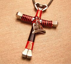 50% OFF TODAYNOW ONLY $44.99 Product Description: Disciples style cross necklace that is handmade with bent horseshoe nails and craft wire. It is made up of th