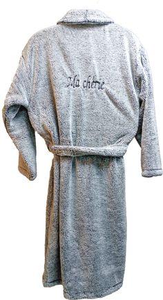 Peignoir polaire personnalisé Ma Chérie réalisé par Brodeway.com #peignoirpersonnalisé #cadeau Fashion, Dress, Man Women, Gift, Moda, Fashion Styles, Fasion