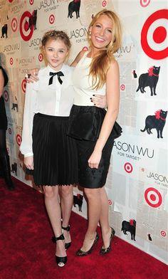 Chloe Moretz and Blake Lively. Jason Wu for Target