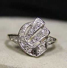 (23-00010-02) 14k White Gold Diamond Ring