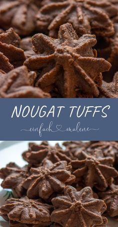 Nougat Tuffs - the best Nutella Christmas biscuits, chocolaty, recipe by Dr. - Nougat Tuffs – the best Nutella Christmas biscuits, chocolaty, recipe by Dr. Christmas Biscuits, Christmas Baking, Christmas Cookies, Christmas Desserts, Pastry Recipes, Cookie Recipes, Dessert Recipes, Best Chocolate, Chocolate Recipes