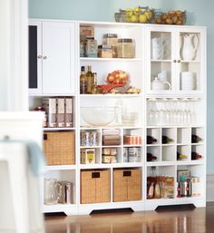 Mix and match the pieces from the Baxter Collection to create the perfect pantry. #kitchen #organization