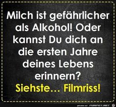 jpg'- Eine von 60183 Dateien in der… funny picture – Milk is dangerous. jpg – One of 60183 files in the category & # funny & # on FUNPOT. Funny Texts, Funny Jokes, Humor Texts, Susa, Facebook Humor, Humor Grafico, Man Humor, True Words, True Stories