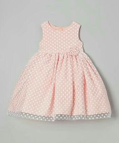 Another great find on Coral Polka Dot Overlay Dress - Girls by Marmellata Toddler Dress, Toddler Outfits, Baby Dress, Toddler Girl, Kids Outfits, Dot Dress, Fashion Kids, Baby Girl Fashion, Little Girl Dresses