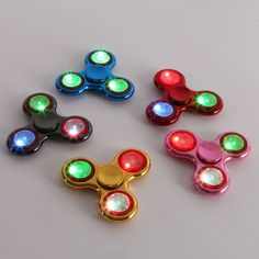 Cheap fidget toys, Buy Quality spinner toy directly from China spinner wheels Suppliers: LED Lighting Fidget Spinner Finger Plastic EDC Hand Spinner For Autism and ADHD Relief Focus Anxiety Stress Wheel Toy Gifts Edc Spinner, Spinner Toy, Hand Spinner, Buy Led Lights, Stress Toys, Classic Toys, Adhd, Light Colors, Gifts For Kids