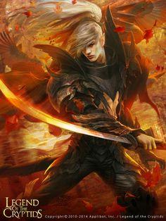 Artist: Thitipon Dicruen aka xric7 - Title: speedy norm - Card: Legendary Swordsman Voronwe