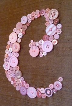 Custom Button Monogram Nursery Wall Art  by letterperfectdesigns, $80.00