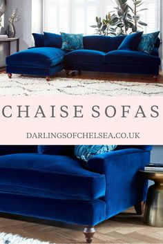 Luxury velvet chaise sofas from UK sofa expert Darlings of Chelsea. Bespoke sofas made to fit your stylish sophisticated home. Beautiful jewel tones, on trend design and the most comfortable sofa ever! Luxury Sofa, Luxury Living, Luxury Furniture, Furniture Design, Living Room Sofa, Living Room Furniture, Furniture Near Me, Furniture Usa, Furniture Buyers