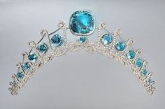 Princess Isabella of Ligne's tiara - see previous pin of tiara in its case