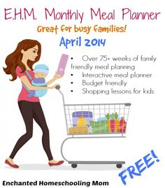 Free Printable Meal Planner with over 75 weeks of family-friendly meal planning!