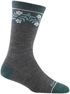 Darn Tough Womens Merino Wool Garland Crew Light Socks Teal Large * Please continue read.