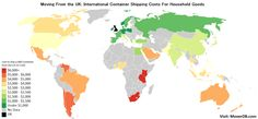 International Container Shipping Rates from the UK