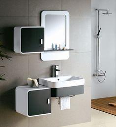 modern bathroom cabinet vanity with bathroom shelving units design plus wall mirror design together with bathroom shower design - Ippio.com