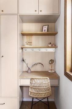 Photo 16 of 19 in Before & After: A Tiny Tel Aviv Apartment Becomes a Hip Urban Dwelling - Dwell Bedroom Alcove, Bedroom Built In Wardrobe, Bedroom Closet Design, Shelves In Bedroom, Bedroom Furniture Design, Room Ideas Bedroom, Home Room Design, Small Room Bedroom, Home Office Design