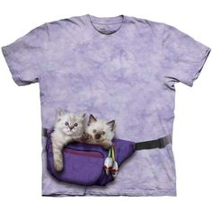 FANNY PACK KITTENS The Mountain Funny Cute Cat Feline Pet T-Shirt S-3XL NEW #TheMountain #GraphicTee
